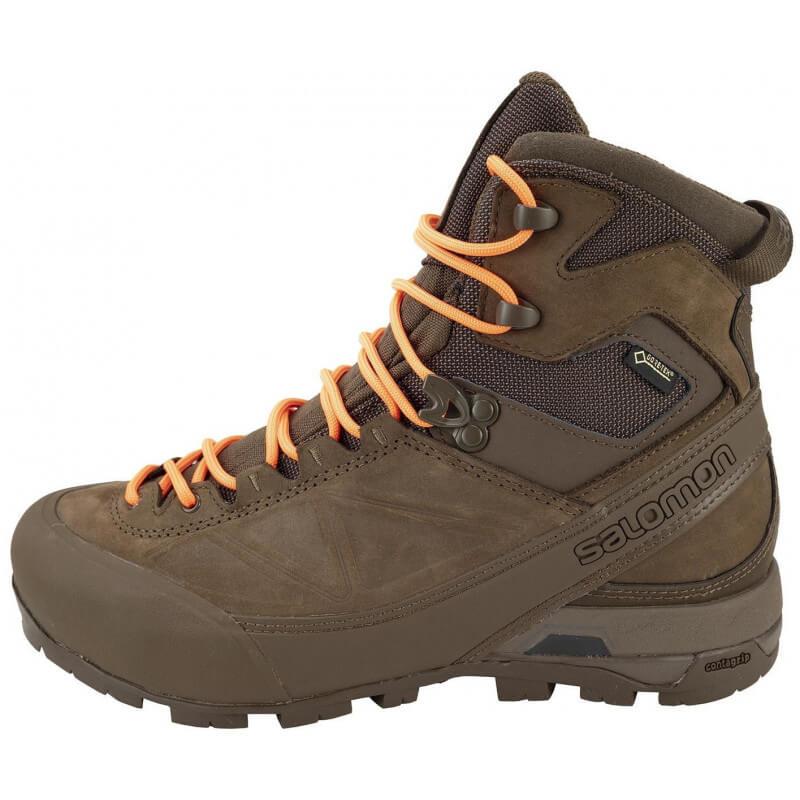 Engaño Alrededor construcción naval  Chaussures Salomon X ALP MTN GTX FORCES - Lacets orange/coyote - Le-Chasseur