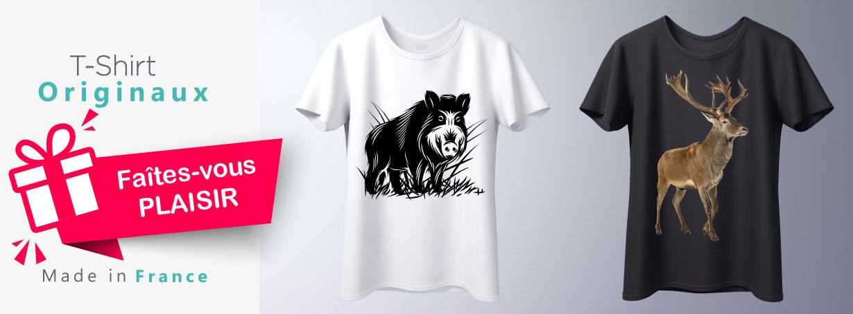 T-shirt originaux chasse